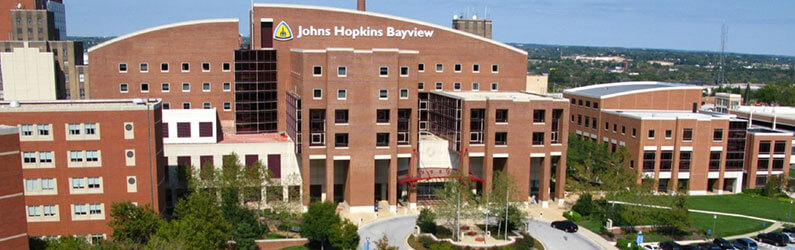 Aerial view of Johns Hopkins Bayview Medical Center