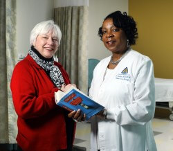 (L) Karen Armacost, director of Johns Hopkins Bayview ElderPlus, and Freddie Jenkins, patient care manager of the clinical research unit.