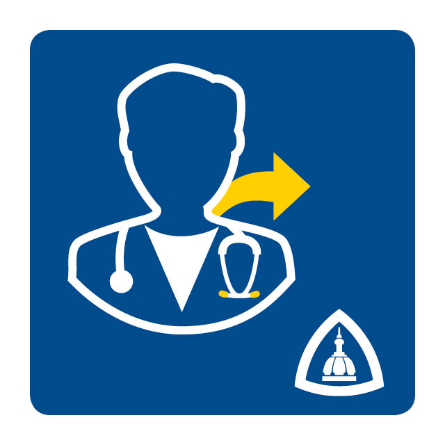 This is an icon for the doctor referral app