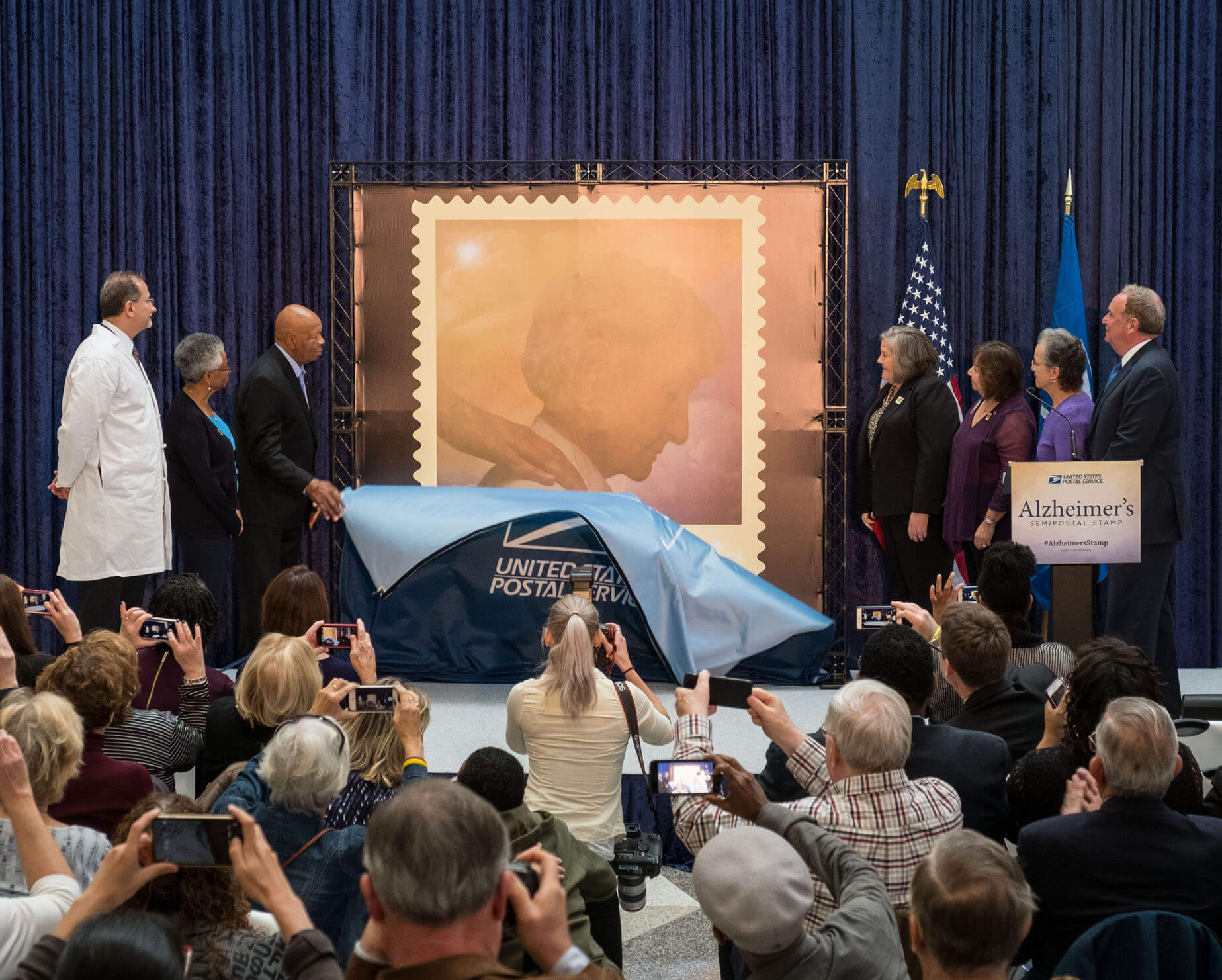 Unveiling of Alzheimer's Stamp (photo by Hannah Close)