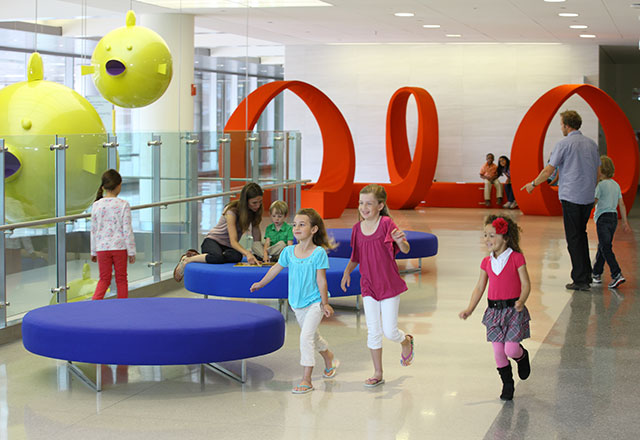 children playing at the Johns Hopkins Children's Center