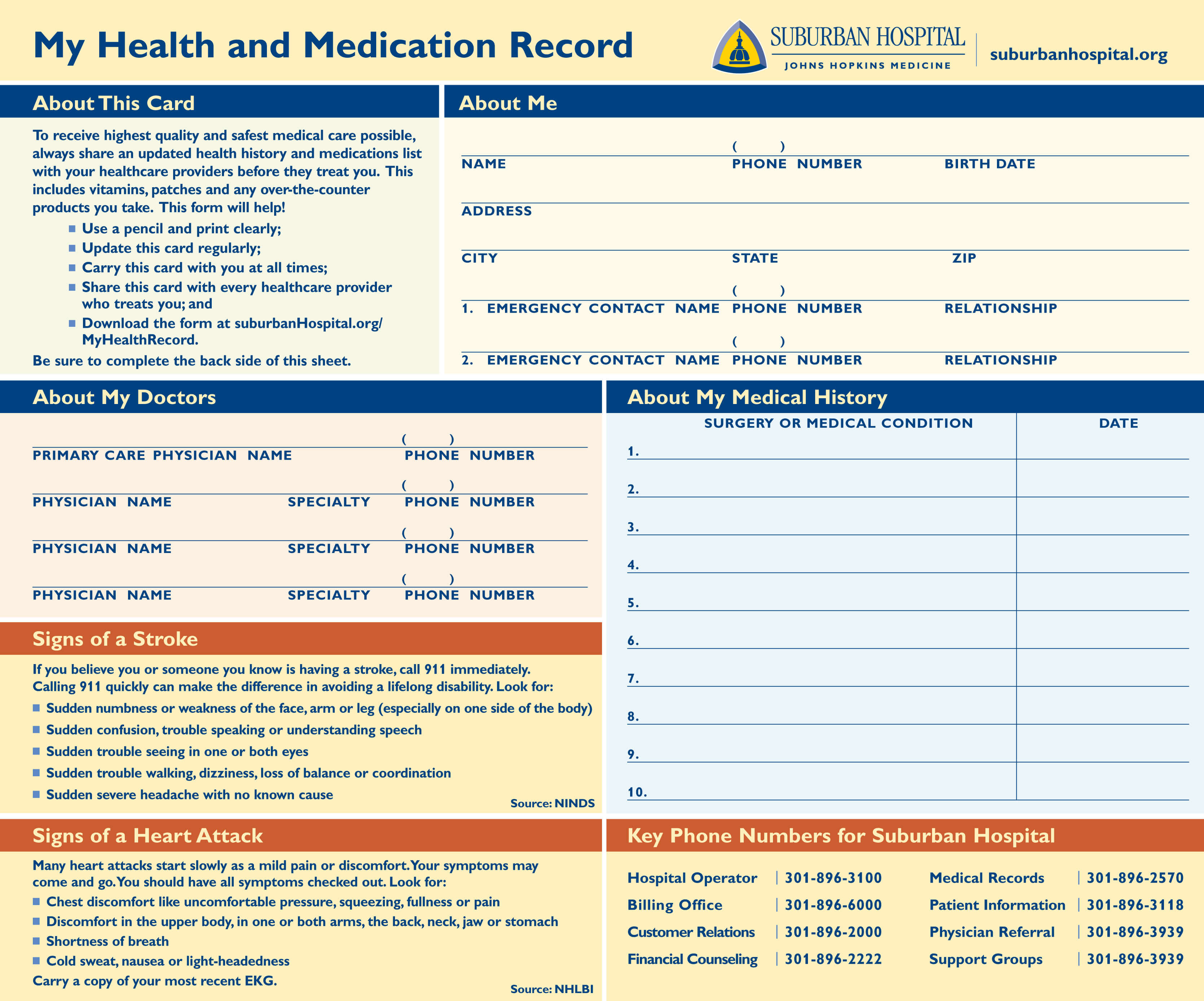 My Health Record Document front