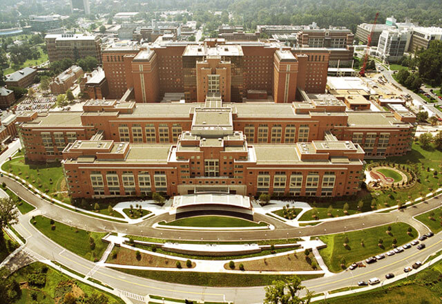 Aerial shot of the National Institutes of Health