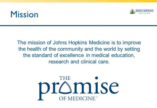 State of Johns Hopkins Medicine: 2013