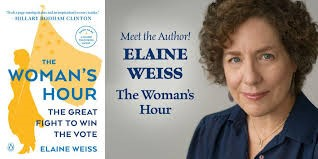 Elaine Weiss and her book.