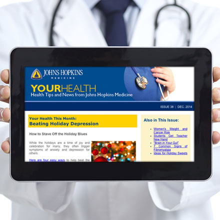 doctor holding tablet displaying your health