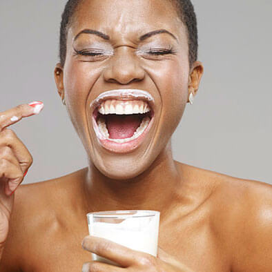 Woman with a milk mustache