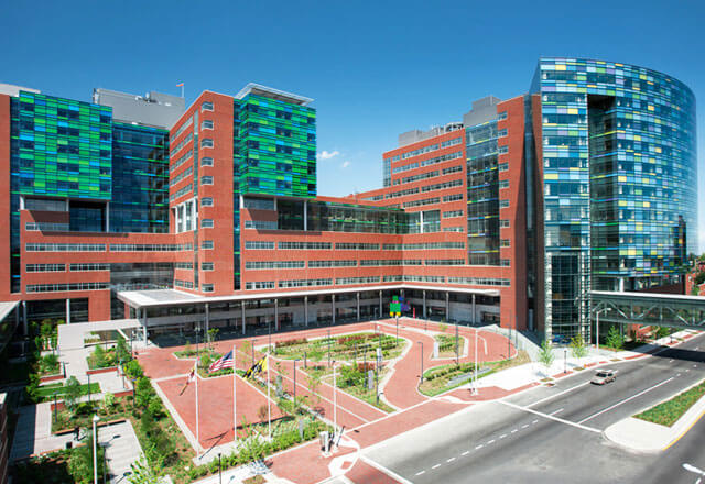 Photo of the exterior of Johns Hopkins Hospital