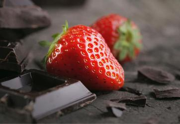 Strawberries and dark chocolate