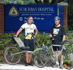 Keith Horvath, M.D., and Brad Dick, M.D., promote a healthier commute to and from work.