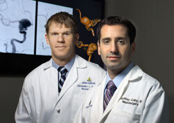 Alex Coon and Geoffrey Colby are performing a new type of surgery that offers the possibility to remove aneurysms completely.