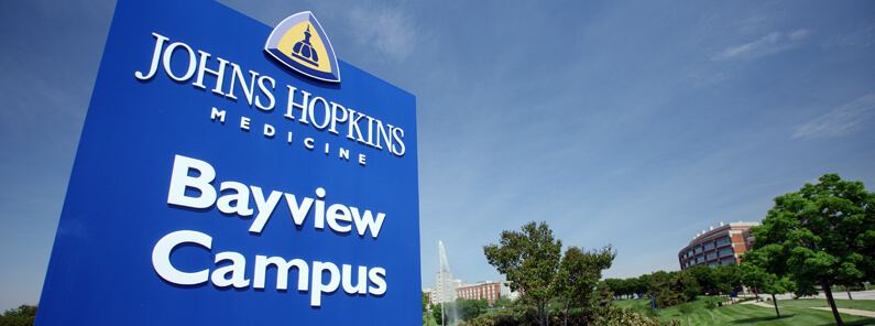 Johns Hopkins Bayview campus and sign