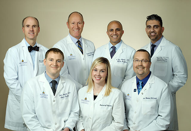 A group photo of the Johns Hopkins orthopaedic specialists in the DC metro areas