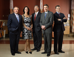 From left, Foxhall Surgical Associates Peter Petrucci, Meredith Garrett, Michael Palmer, Martin Paul and Brian Long.