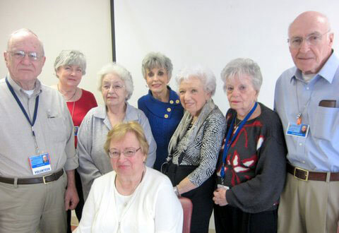 A group of seniors, men and women
