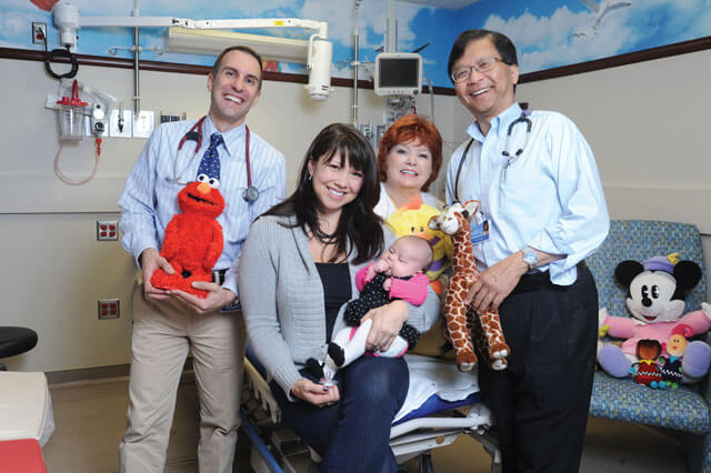 David Reitman, MD, Nicolle Sternberger and Peyton, Donna Seelye, RN, Saw Htun, MD