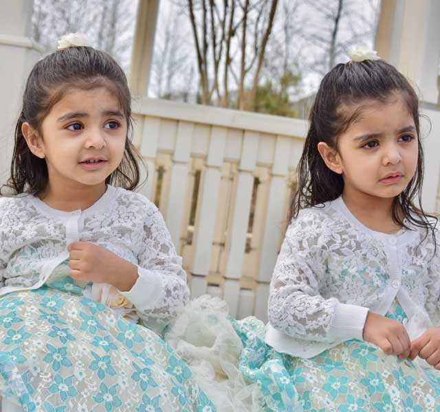 Simarjeet's Twins Sahej and Sifat