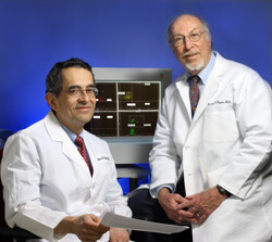 photo of Drs. Carlos Pardo and Harvey Singer