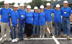 Doug Robinson with his wife and members of his lab before starting construction