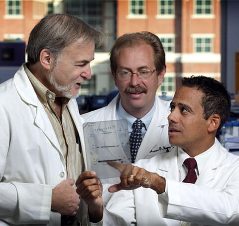 three doctors in discussion