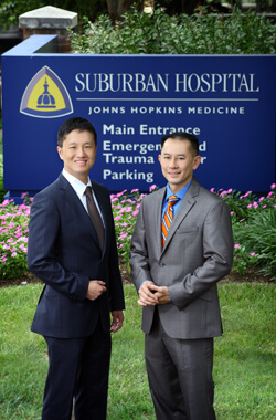 Neurosurgeons David Lin and Quoc-Anh Thai