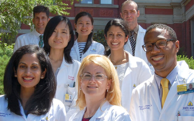 The endocrinology team of doctors