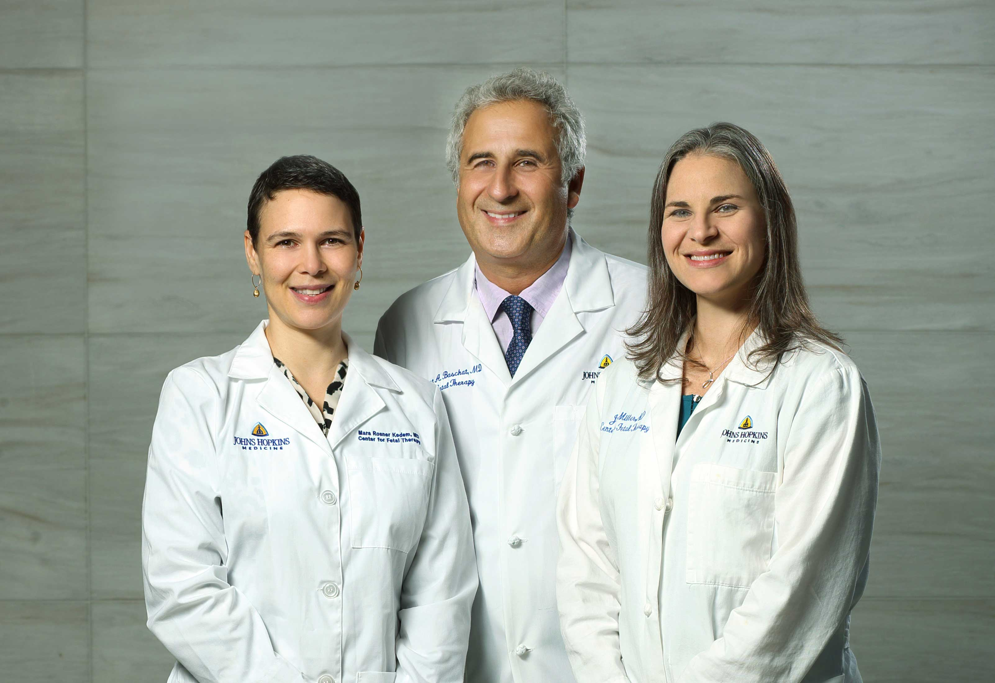 Drs Baschat, Miller, and Rosner of the Fetal Therapy Center