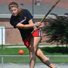 Katie Drudy playing field hockey