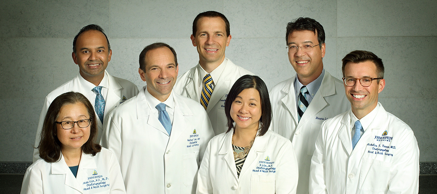 The team of Rhinologists and Otolaryngologists at Johns Hopkins Sinus Center