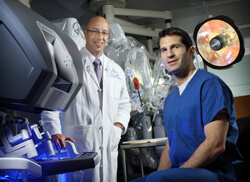 Ralph Tufano (left), Jeremy Richmon, and their colleagues are now performing thyroidectomies using an approach similar to the one used for facelifts.