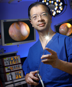 "Zhiping Li describes mini-peritoneoscopy as a ""true advance"" over traditional laparoscopy. In hepatitis patients, he's been able to reduce liver sampling error, a traditional hazard since liver disease rarely spreads uniformly."