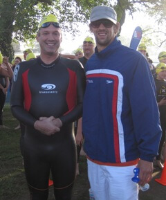 Dr. Nelson with Michael Phelps