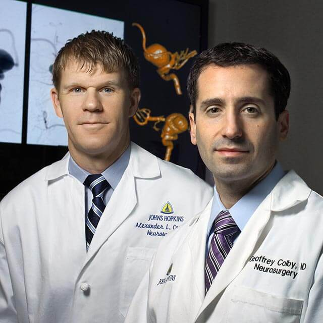 Two physicians who specialize in treating brain aneurysms