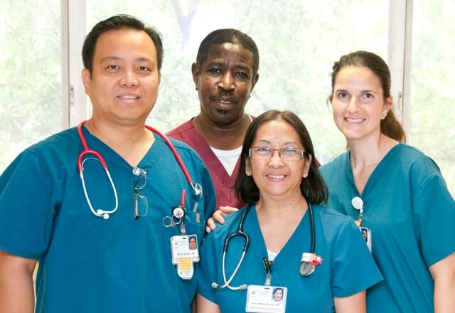 Nurses on Sibley's 6 East team