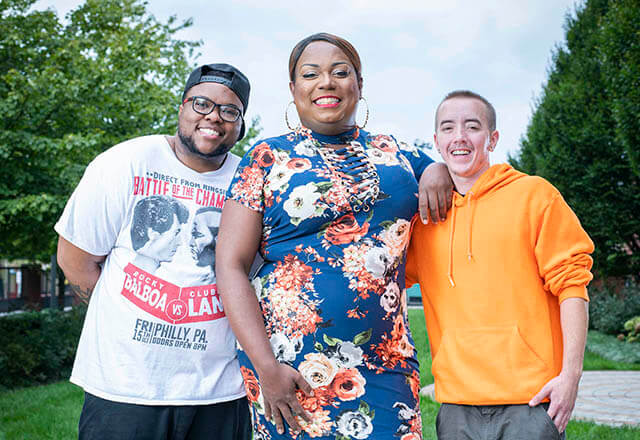Kez Hall, Dariel Peay and Dylan Ballerstadt are patients at the Center for Transgender Health.