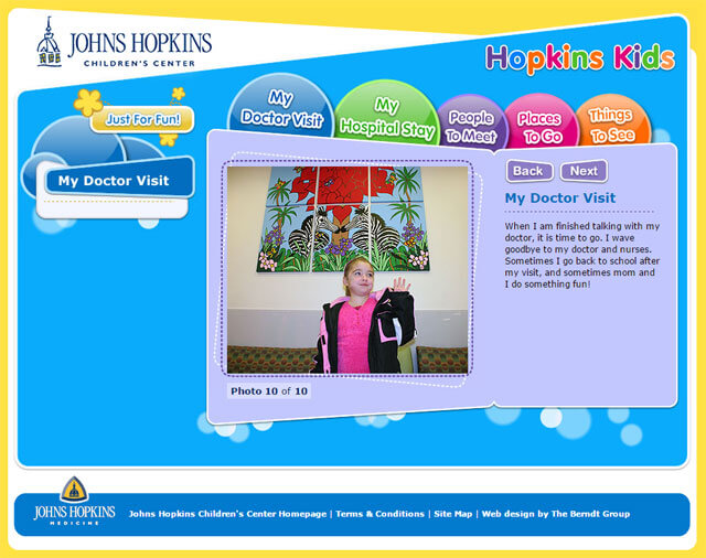 Hopkins Kids Website