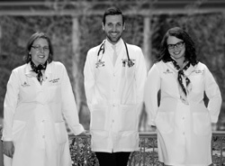 During their training, urban health residency graduates Dana Mueller, Mark Tenforde and Katy Kline met with patients regularly in community settings.