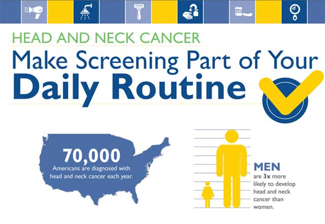 cancer screening infographic