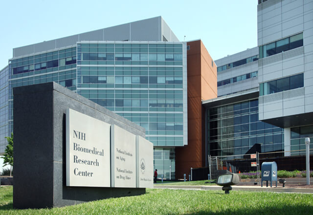 View from outside the NIH Biomedical Research Center