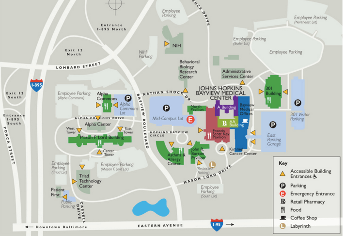 johns hopkins university campus map How To Get Around In Baltimore johns hopkins university campus map