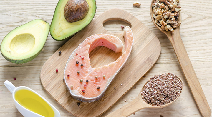 Examples of good fats: avocado, salmon and nuts