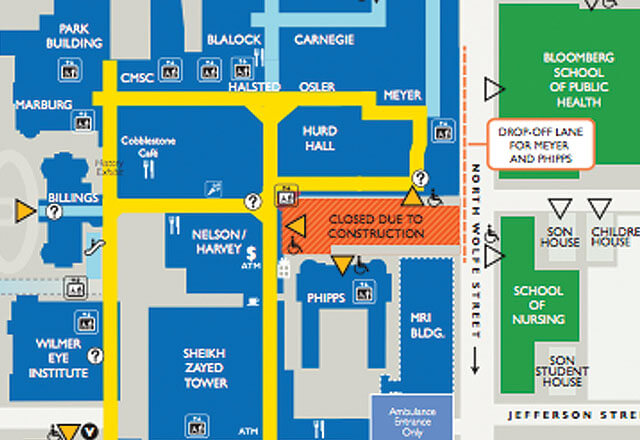 School of Medicine map