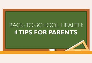 back-to-school tips for parents infographic