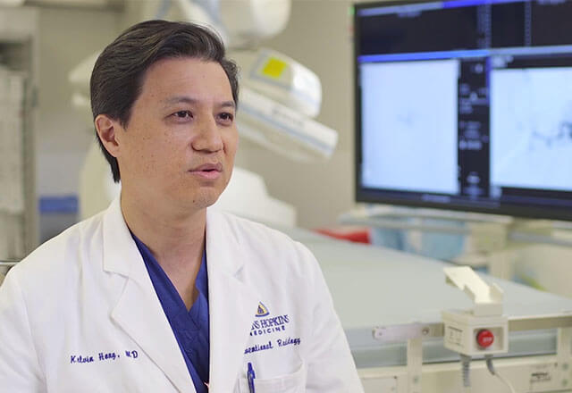 Dr. Kelvin Hong, director of Interventional Radiology at Johns Hopkins