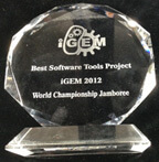 iGEM glass trophy