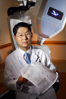 Hopkins' CyberKnife allows radiotherapy for brain tumors without a need for stereotactic head frames, says neurosurgeon Michael Lim.