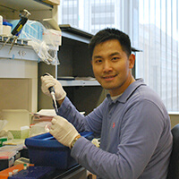 Dr. Yun Liu in the lab