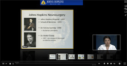 image of Dr. Huang's webinar on screen