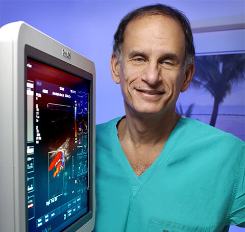 Dr. Bruce Perler in the Cardiac Catheterization Lab