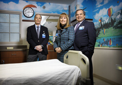Suburban Hospital's Robert Rothstein, Cindy Notobartolo and  Dennis Parnell led a successful effort to make flu vaccination mandatory.